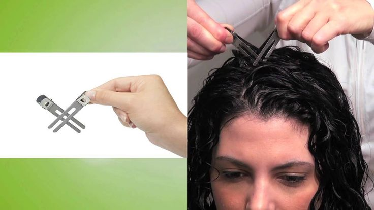DevaCurl. How to pin/clip curls. Style Curly Hair with Deva Clipping