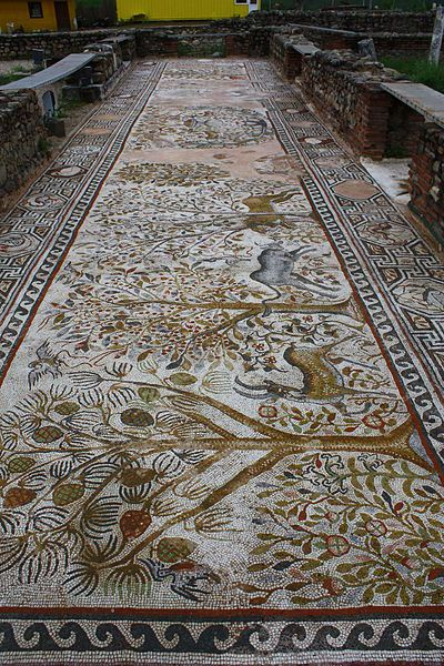 Mosaic in Heraclea Lyncestis, Macedonia.  Raso,