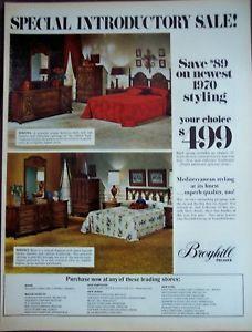 Broyhill Bedroom Furniture vintage 1970 decor ad
