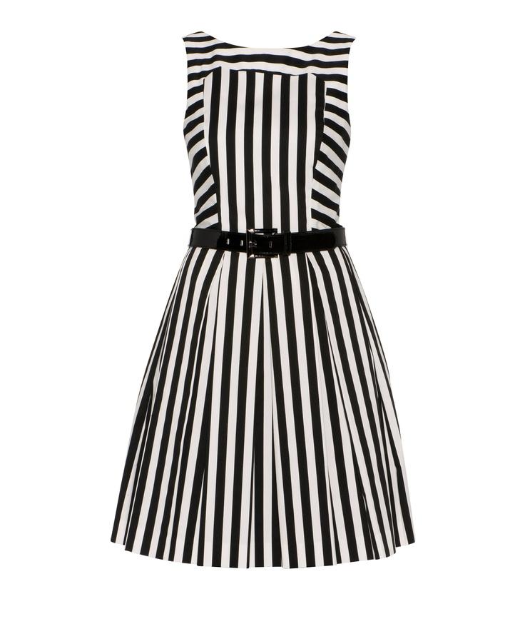For Jumbo and Amanda's wedding? Cue - Product Details - Stripe Pleat Dress