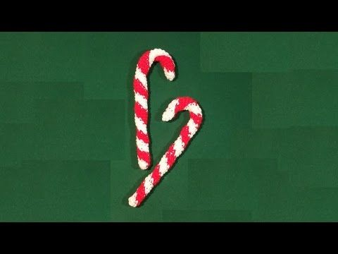 Bastoncini di zucchero all'uncinetto - crochet candy cane - bastón de caramelo en crochet - YouTube