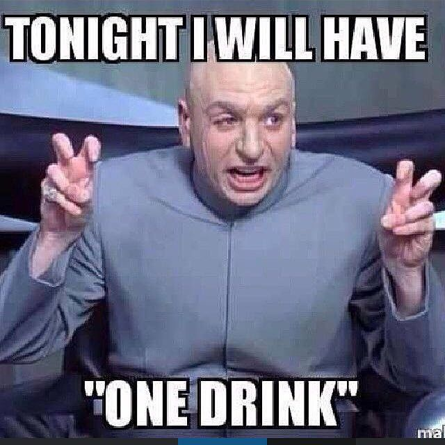 "It's the 2nd biggest drinking night of the yr...be safe out there and try to stick to ""one drink"" #drinking #jokes #jokeoftheday #thanksgiving #thanksgivingeve"