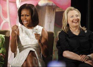two powerful women: Lady Michelle, Women S, President Barack, Hillary Clinton, Michelle Obama, International Women, Girl Power, Barack Obama, Courage Awards