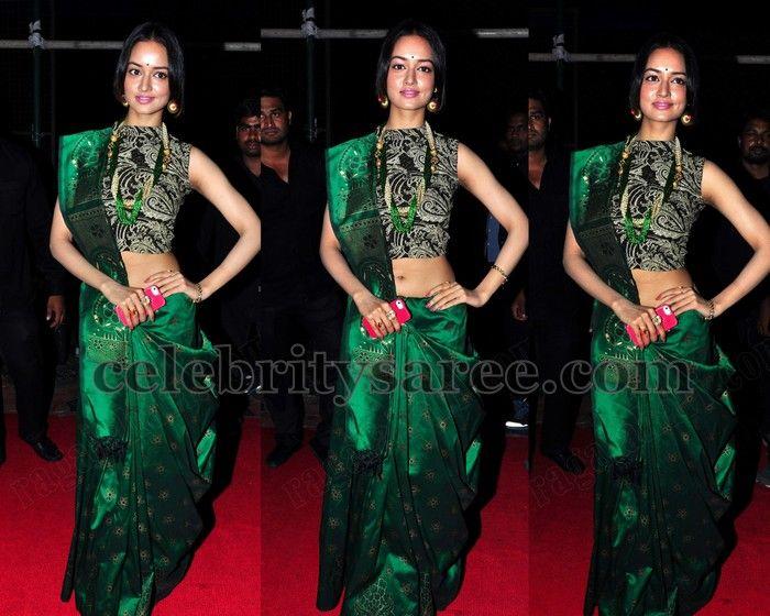 Shanvi Green Silk Saree   Saree Blouse Patterns