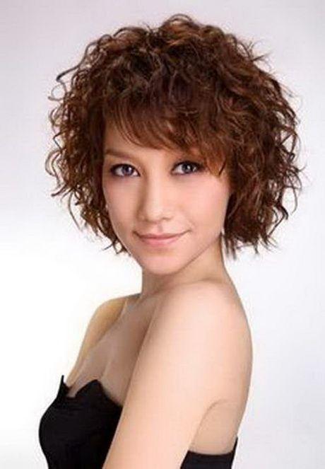 Kurze Dauerwelle Frisuren dauerwelle frisuren kurze  Haare  Short hair with bangs Short