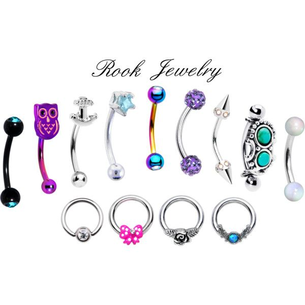 Rook Piercing Jewelry by bodycandy on Polyvore featuring piercings, rook and cartilage