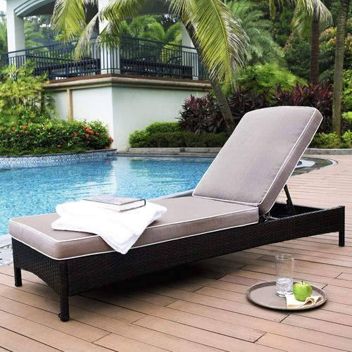 catalina brown outdoor wicker chaise lounge
