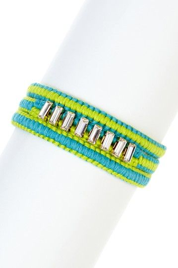Chan Luu Baguette Rhinestone Wrap Bracelet by Non Specific on @HauteLook