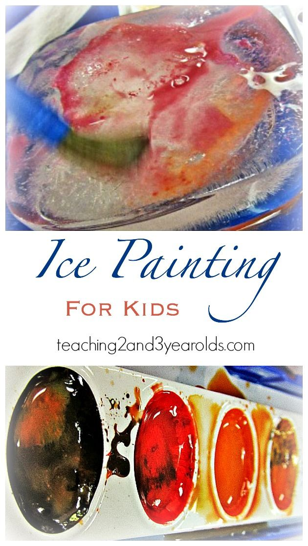 ice painting for kids
