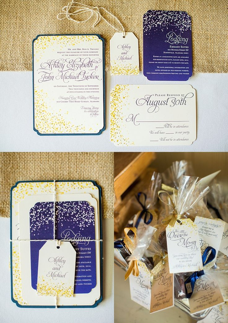 Navy and Cream, Starry night wedding invitations  shopsaltandpaperie.com/pages/bridal-collection