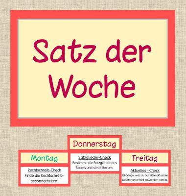Deutsch in der Grundschule: Satz der Woche