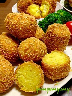 さつまいものごまコロッケです☆さっくり♪ほっこり♪ レシピ・作り方 by ゆんゆんゅん|楽天レシピ