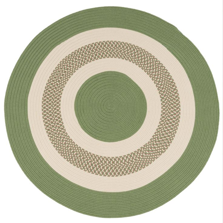 Colonial Mills Green Indoor Outdoor Round Braided Rug 6 X