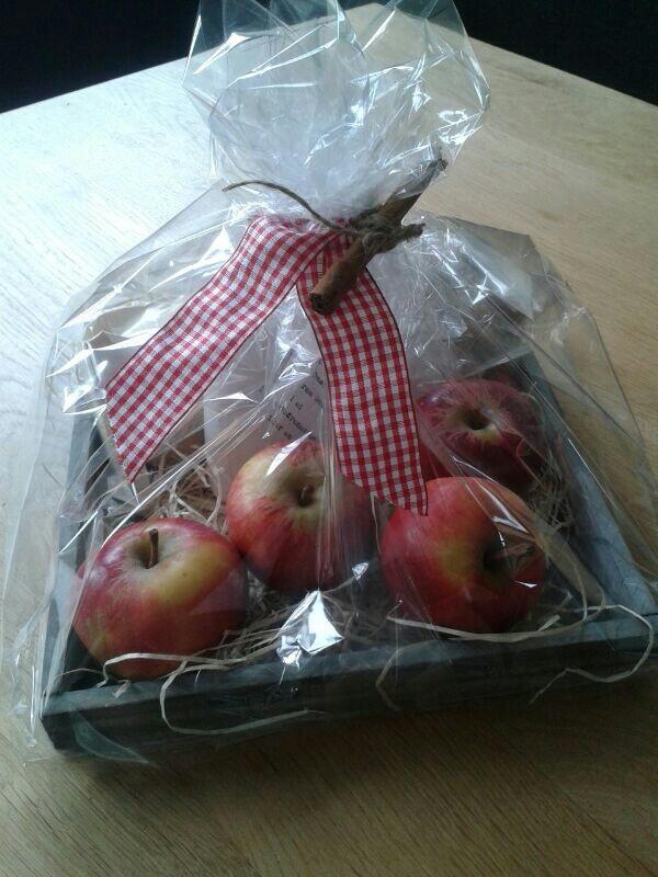 Ingredienten appeltaart incl. harthanger met recept