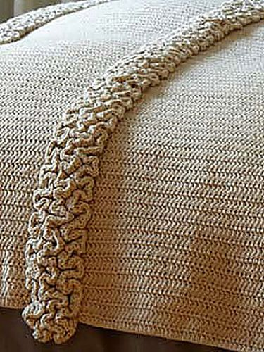 Beautiful crocheted blanket tutorial