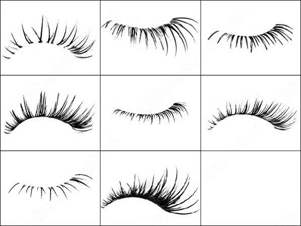 Human Face Elements Free Photoshop Brush Set IV - Woman Eyelashes @freebiebrushes