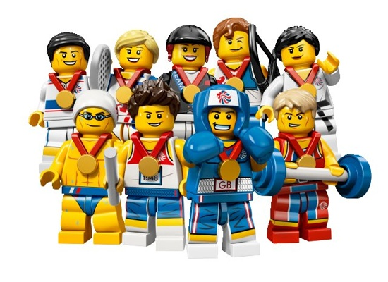 A special edition range of Team GB and Olympic Logo Minifigures!