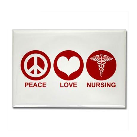 Peace Love Happiness Magnets Nursing Breastfeeding Nurses