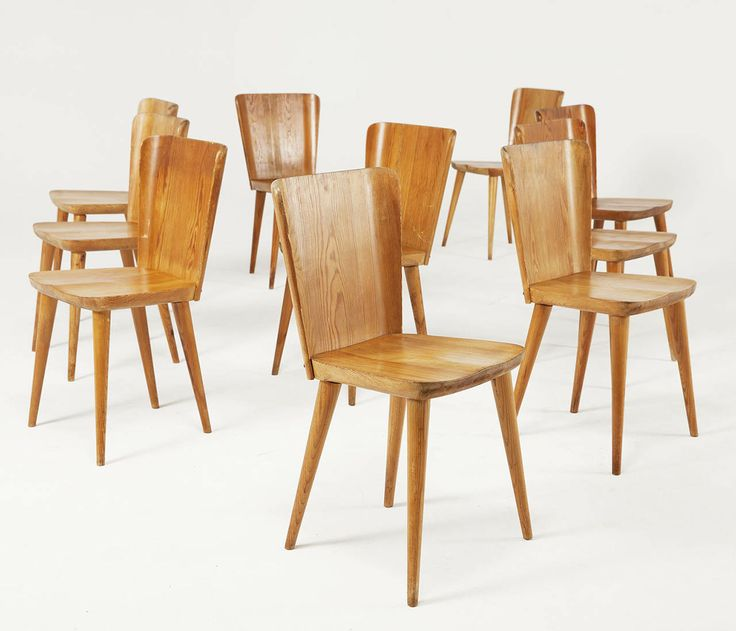 Large Set (16 Pcs) Of Carl Malmsten Solid Pine Chairs | From A Unique