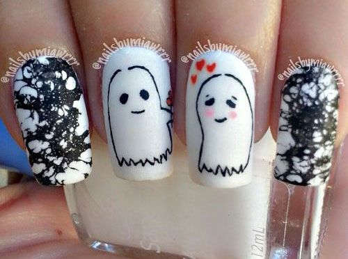 47 best halloween ghost nail art images on pinterest nail 18 halloween ghost nail art designs ideas trends prinsesfo Gallery
