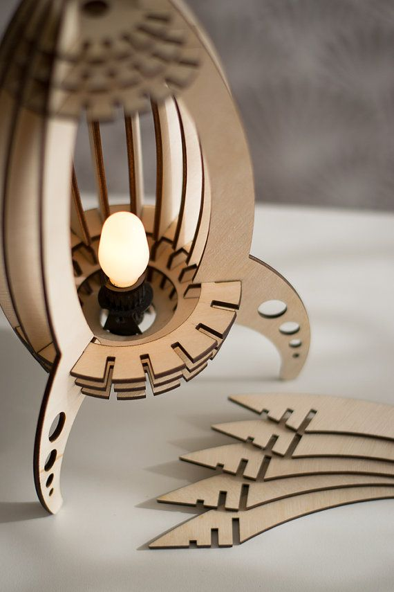 Laser Cut Rocket Ship Night Light Spaceship Lantern