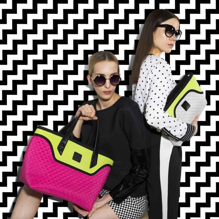 GOSHICO, photo shoot, ss2015, Flowerbag, (coffer), pink + lime; Flowerbag (clutch), light grey + lime. To download high or low resolution photos view Mondrianista.com (editorial use only).
