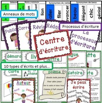 Centre d'écriture:  Vos élèves seront motivés à écrire quotidiennement avec ce centre d'écriture.