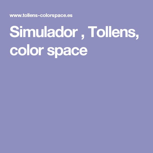 Simulador , Tollens, color space