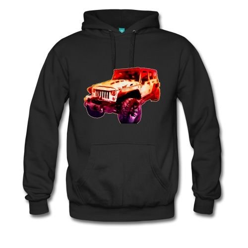 Around the VivaChas Clubhouse lately we like Jeeps. This image by Chas Sinklier aka VivaChas is a Jeep we call 2017 Jeep Unlimited Beast! It's a real Monster of a 4×4. That's a four-wheel drive off road ride that's pure fun to drive! And this Hoodie is Deluxe! It's heavier than most! Perfect for Winter Jeepin'!! ~;0)