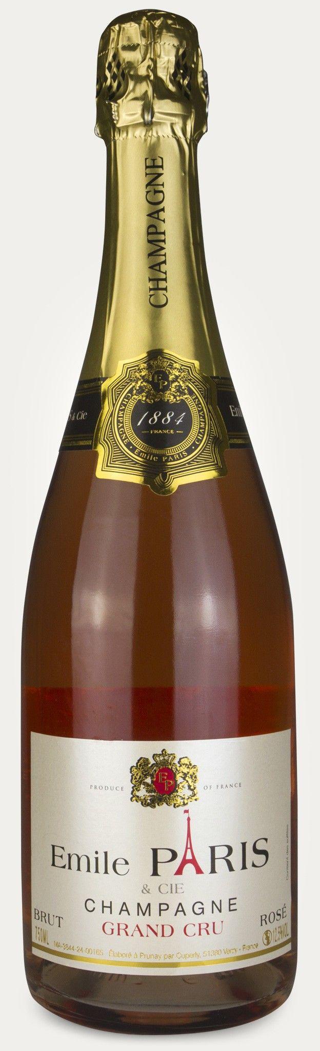 Emile Paris Grand Cru Rosé BrutPris: 328,70 kr.Varenr. 7443201. Basis, polkat. 6tk 6Vil du ha ekte Champagne på nasjonaldagen? Unn deg denne. Emile Paris er et virkelig godt kjøp. Rosé-sjampis pleier å være langt dyrere. Dufter av bringebær og jord. Flott skum, med en tydelig ettersmak av bringebær og lime som ligger lenge på tungen.