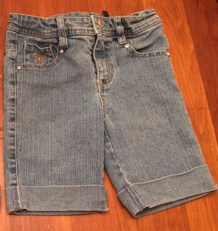 Girls Arizona Blue Jean Shorts, Size 4 Regular, Faded Light Blue