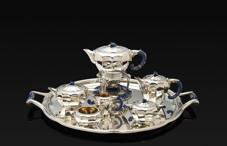 Tea and Coffee Service by Jean E. Puiforcat, Modern and Contemporary Art Medium: Silver, lapis lazuli, ivory, gold Purchase, Edward C. Moore Jr. Gift, 1925 Metropolitan Museum of Art, New York, NY http://www.metmuseum.org/art/collection/search/493856