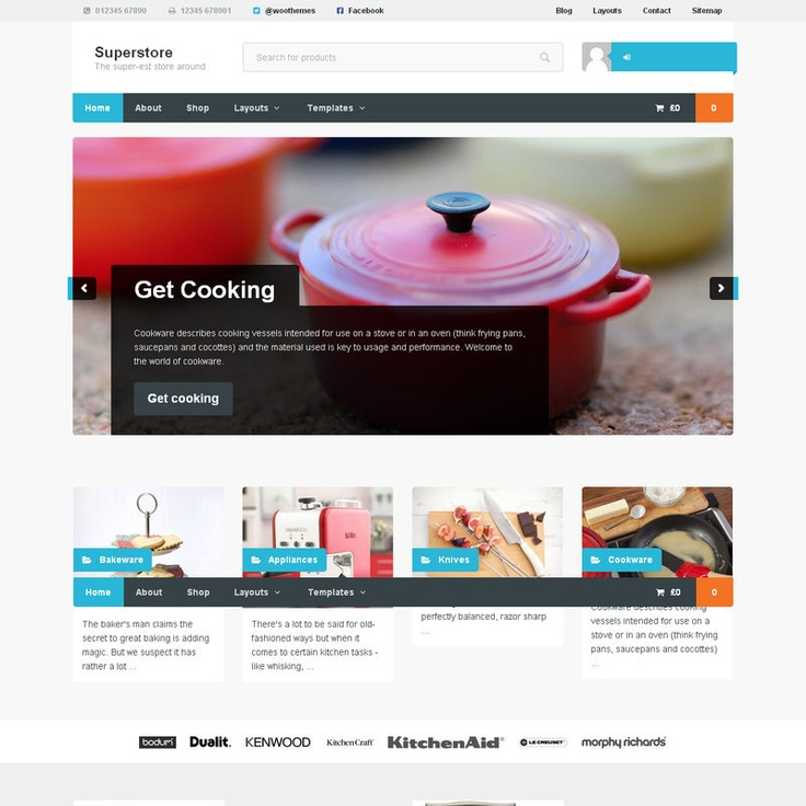 Superstore is a hugely scalable WooCommerce theme designed to cater for lots of products. With infinite scroll on shop pages site visitors can view your entire shop catalog on one page, or easily drill down to category specific listings. With an optional business focused landing page, a responsive layout, and slick CSS animations and styling it's super lightweight, whilst completely versatile.