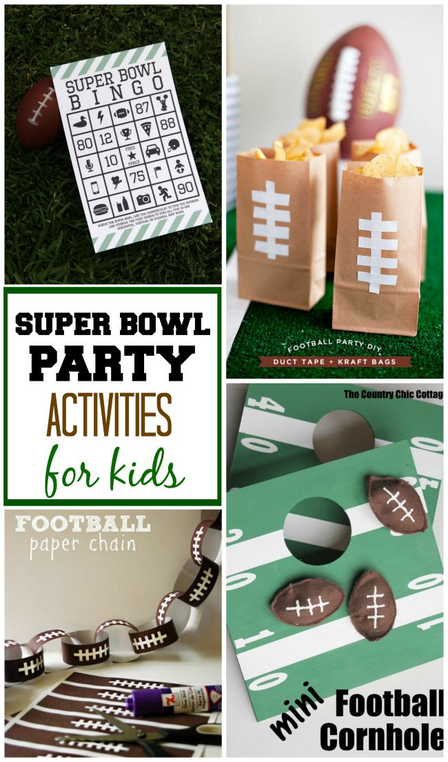 Totally fun Super Bowl activities for kids to keep them busy and having fun during the big game