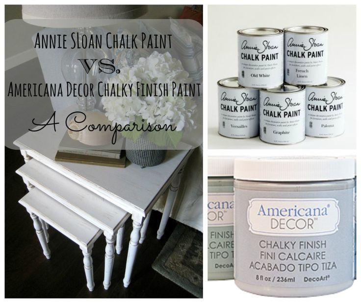 Annie Sloan Chalk Paint Vs. Americana Decor Chalky Finish Paint – A Comparison