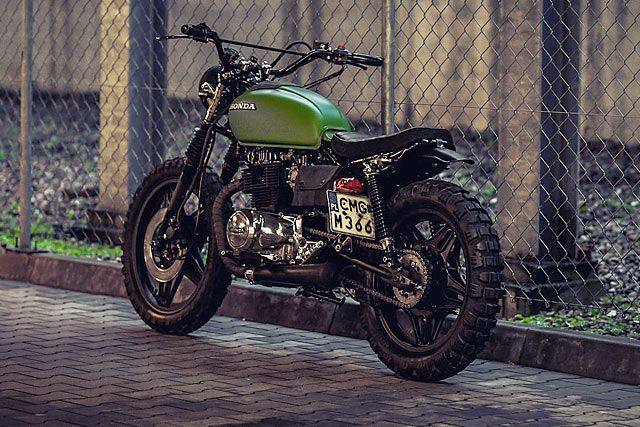 TINKER TAILOR SOLDIER FLY. A 'Great Escape' Honda CM400 Tracker from Poland's T. Jasin Motorcycles - Pipeburn.com