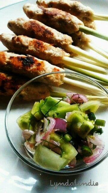 Satai Ayam Bali & Sambal Matah - Balinese Chicken on Lemongrass & Matah Sambal