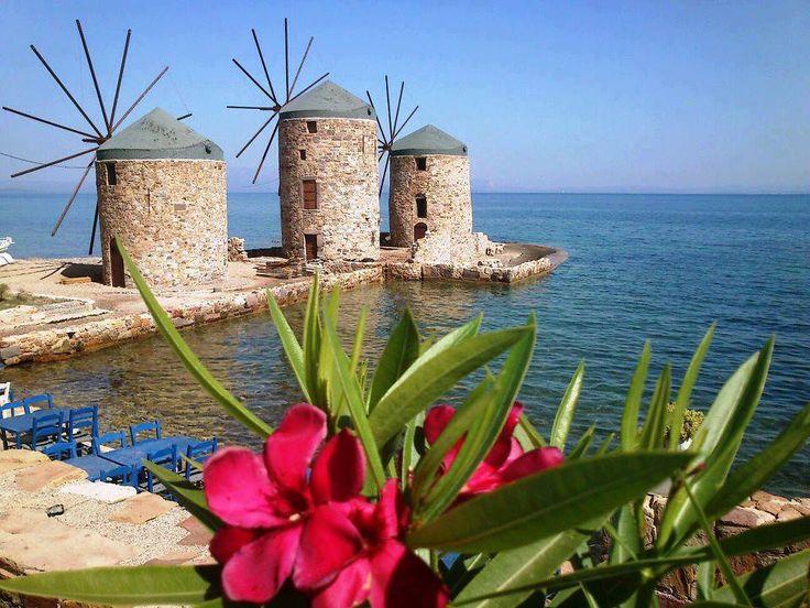 #Chios #windmill #Greece