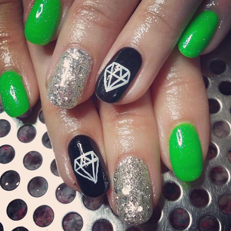 Best 14 It Works nails images on Pinterest | Lemon nails, Green nail ...