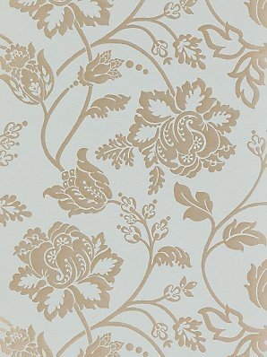 Harlequin Wallpaper, Avellino 75440, Duck Egg / Gold