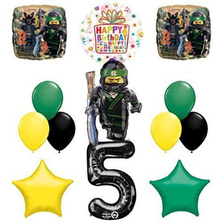 The Ultimate Lego Ninjago Fifth 5th Birthday party supplies and Balloon Decorations - Walmart.com