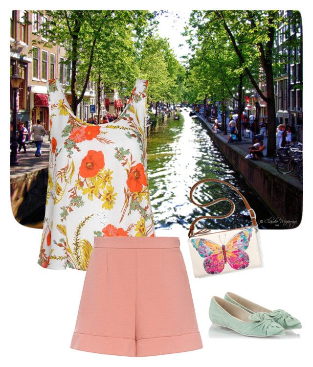 """spring citywalk in amsterdam"" by devarahma on Polyvore featuring Glamorous, RED Valentino, RAS and Brighton"