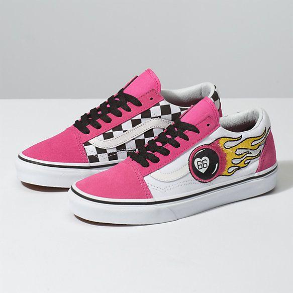 Por Suburbio Meandro  Flame Old Skool | Shop Shoes At Vans in 2020 | Vans old skool, Rare vans,  Vans shoes