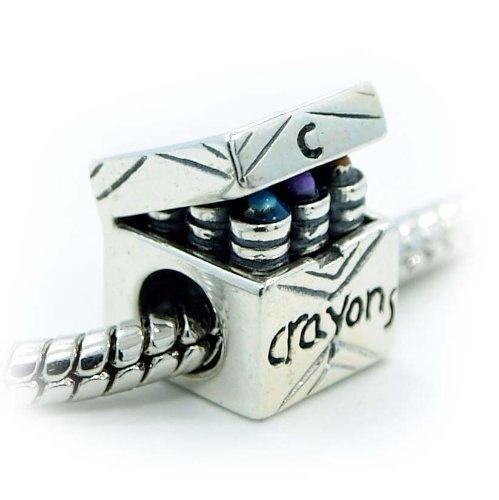 Auténtico Silverado chancletas de grano del encanto de Compatible con Pandora Chamilia trol Biagia etc xJTAdaoqAq