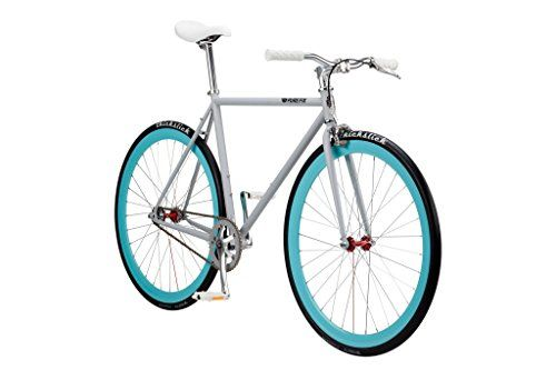 Pure Fix Original Fixed Gear Single Speed Bicycle, Delta Light Grey/Teal Blue, 50cm/Small http://coolbike.us/product/pure-fix-original-fixed-gear-single-speed-bicycle-delta-light-greyteal-blue-50cmsmall/