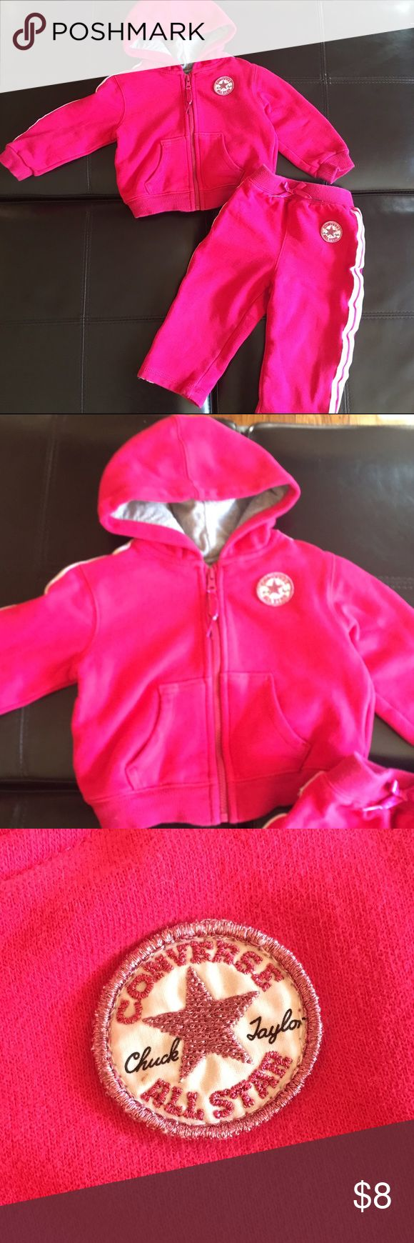 Converse Outfit Cute pink converse hoodie with matching pants. Excellent condition! Bundle and save! Converse Matching Sets