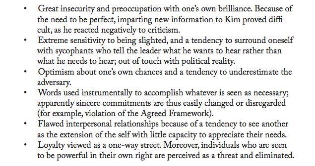 CIA psych assessment of Kim Jong Il.  Kind of makes you think.   via ian bremmer‏Verified account @ianbremmer