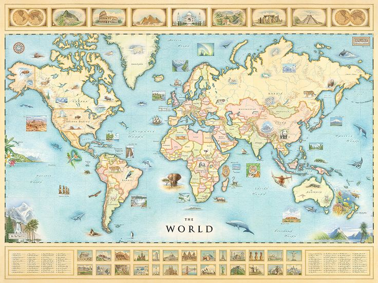 24 best xplore the maps images on pinterest watercolor map presenting the world map from greenland to new zealand and nearly everything in gumiabroncs Image collections