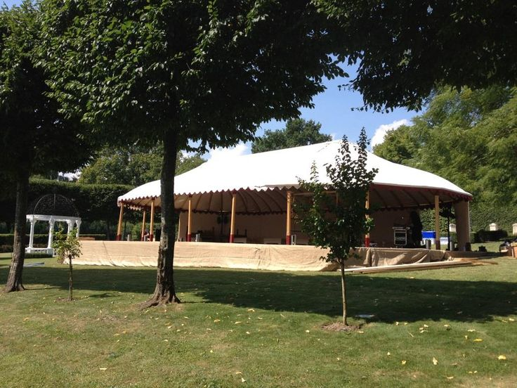 One of our Mini Orangery tents at a venue in Geneva.