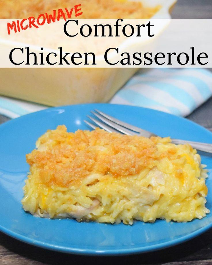The BEST Microwave Chicken Casserole with Ritz Cra…